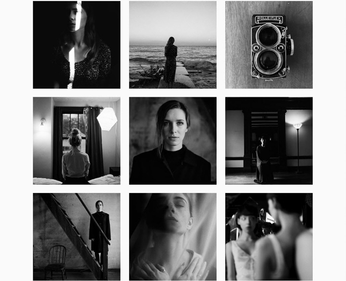 A nine photo grid of atmospheric black and white shots by Santiaga Murillo - analog photographers 2019