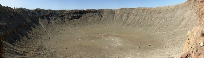 The famous Meteor Crater, in Arizona (US). meteor photography