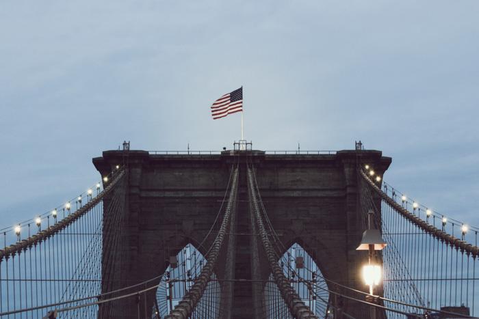 A photo of a bridge on an overcast day