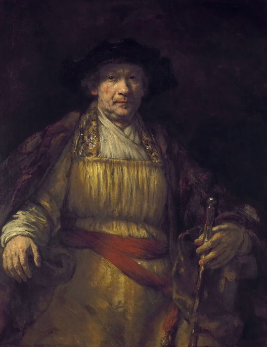 Rembrandt self portrait painting