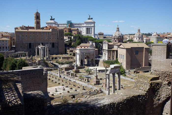 The Roman forum is the excavation of the ancient Roman city.