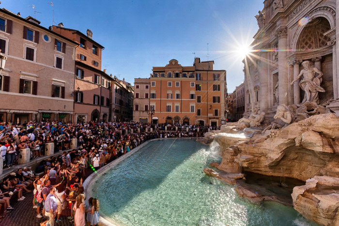 The Trevi fountain in Rome - Rome photography spots