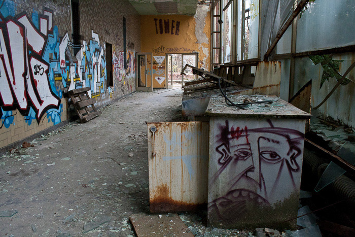 A photo of an abandoned building - urban exploration terms