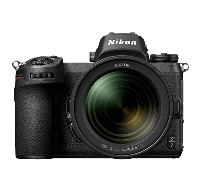 A front view of the Nikon Z7 Mirrorless camera