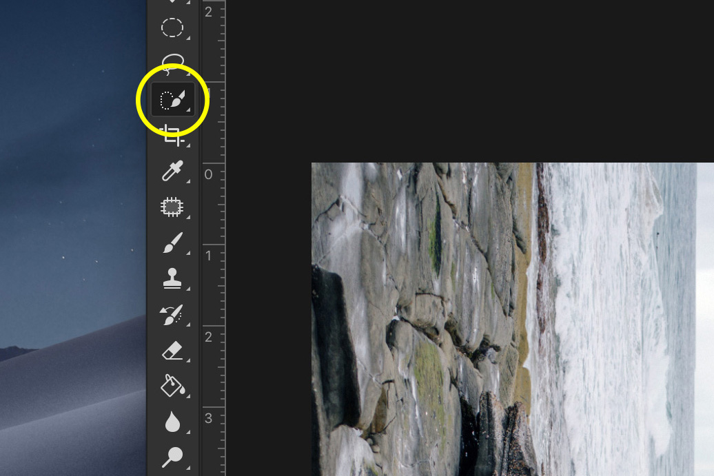 How to Do a Bend and Warp Trick in Photoshop - delete the sky