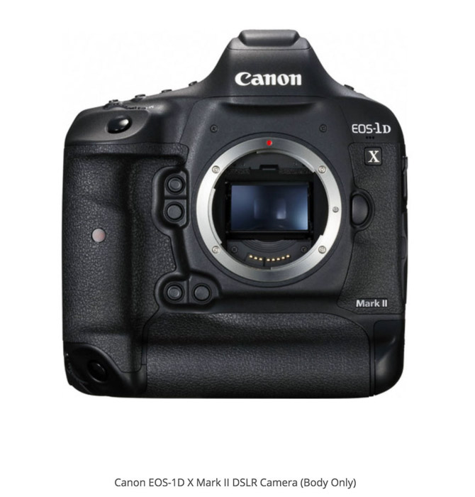 Canon 1D X Mark II best camera for real estate photography