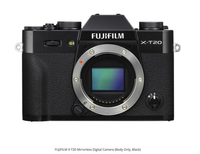 Fujifilm X-T20 best camera for real estate photography