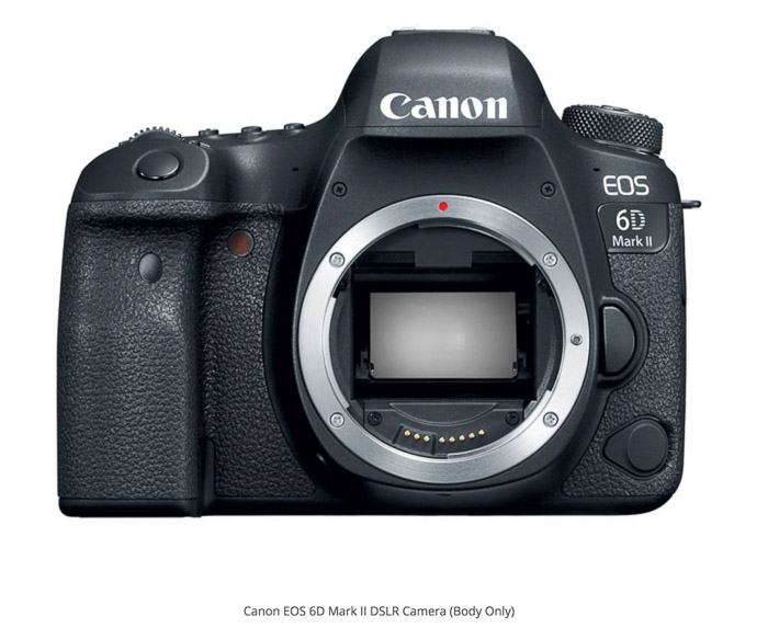 Canon 6D Mark II - best camera for real estate photography