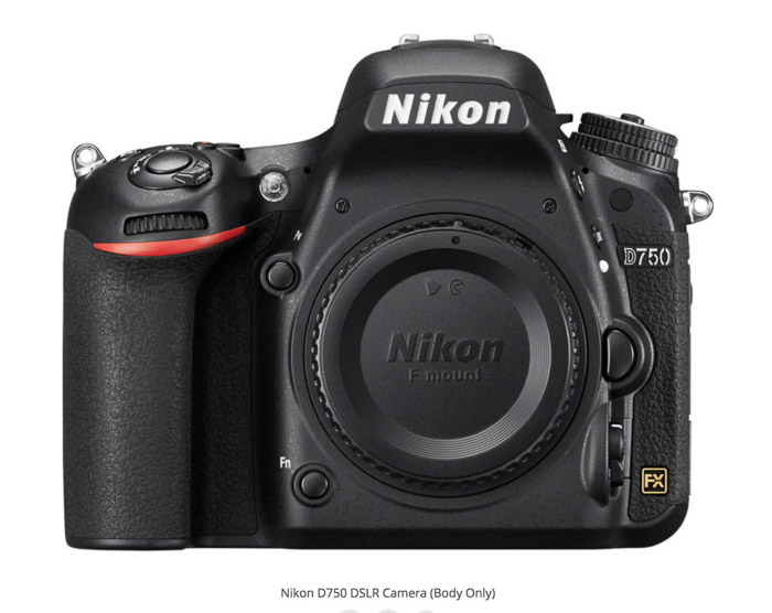 Nikon D750 - best camera for real estate photography