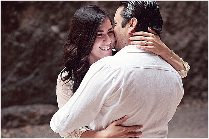Emotional photography shot of a couple embracing and smiling