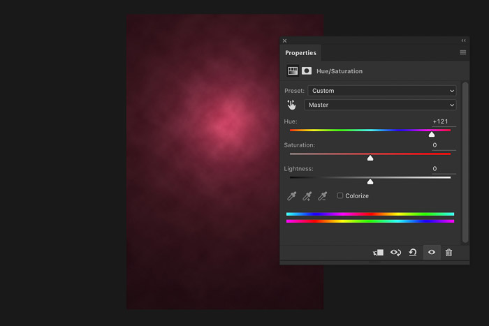 A screenshot showing how to create a Digital background in Photoshop - change the colour of the digital background