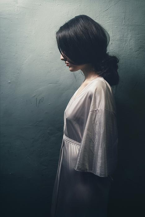 Atmospheric fine art portrait of a female model