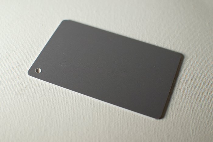 A grey card for photography