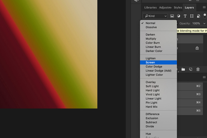 A screenshot showing how to use Light Leak Overlays in Photoshop