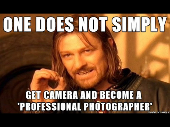 Boromir professional photography meme