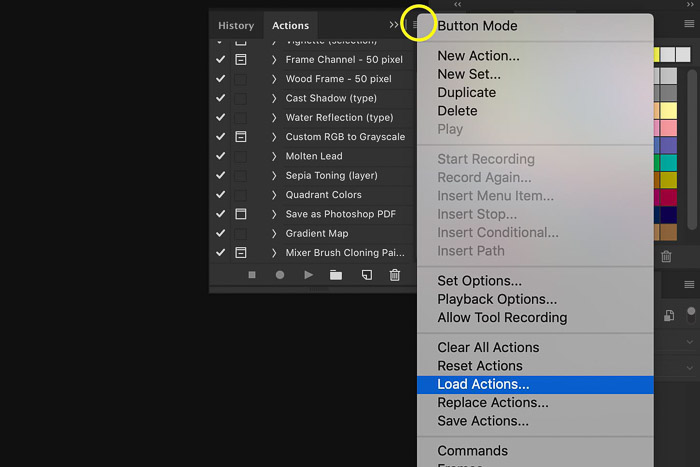 How to install Photoshop Actions - load actions