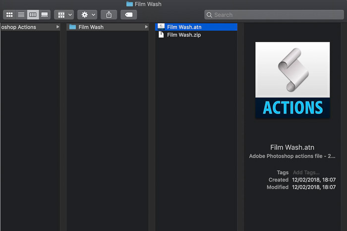 How to install Photoshop Actions - file extension