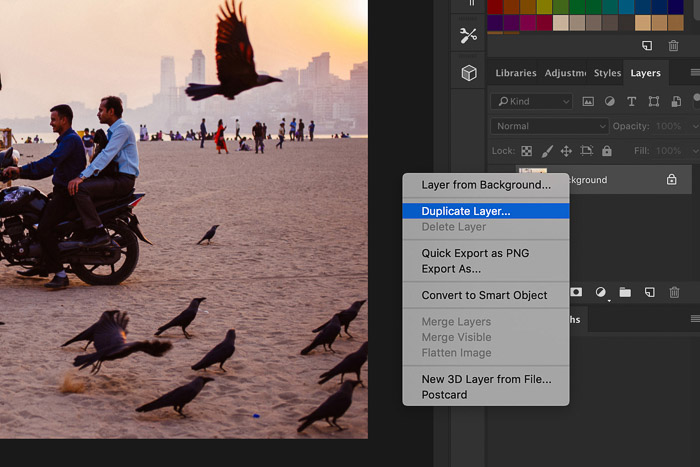 How to Use Photoshop Smart Objects - duplicate layer