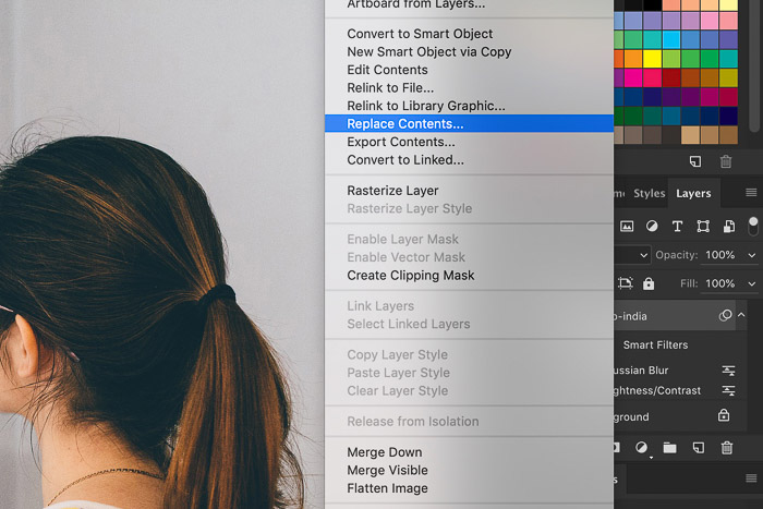 How to Use Photoshop Smart Objects - replace contents