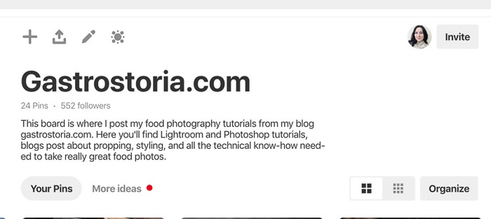 A screenshot of pinterest photography keywords