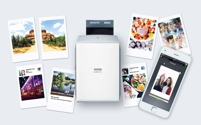 A product image of Instax Printer and photos