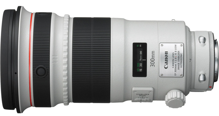 Canon EF 300 mm f/2.8L IS II USM telephoto lens