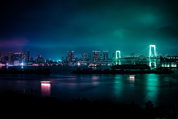 A stunning night cityscape in Minato, japan - japan photography tips