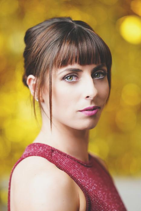 A portrait of a female model shot with Profoto A1 flash