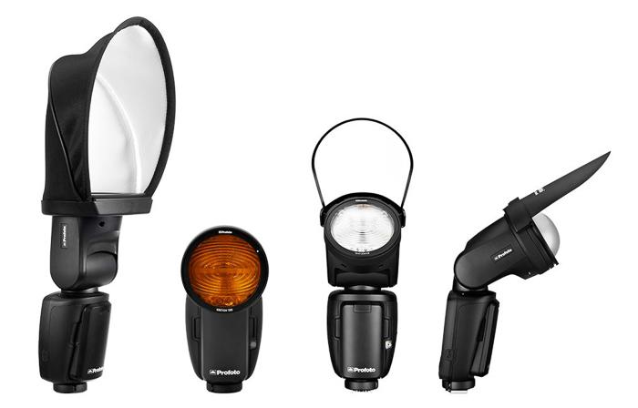 A range of profoto external flash units
