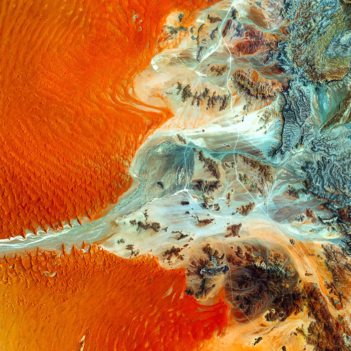 A stunning abstract aerial landscape photography shot