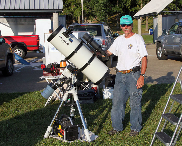 Example of computerised setup for astrophotography using an equatorial mount. best telescope mounts for astrophotography