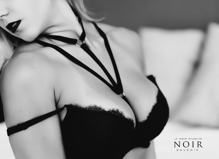 A professional boudoir portarit of a female model posing in lingerie - boudoir business tips