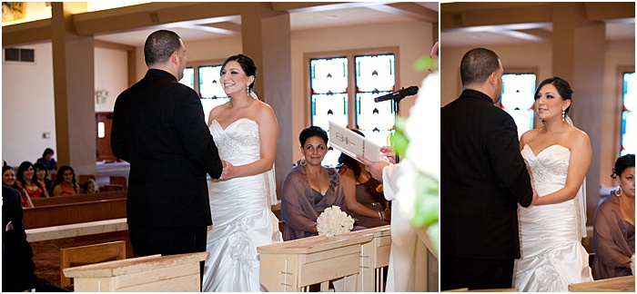 Adiptych wedding portarits of the couple being married - wedding flash photography