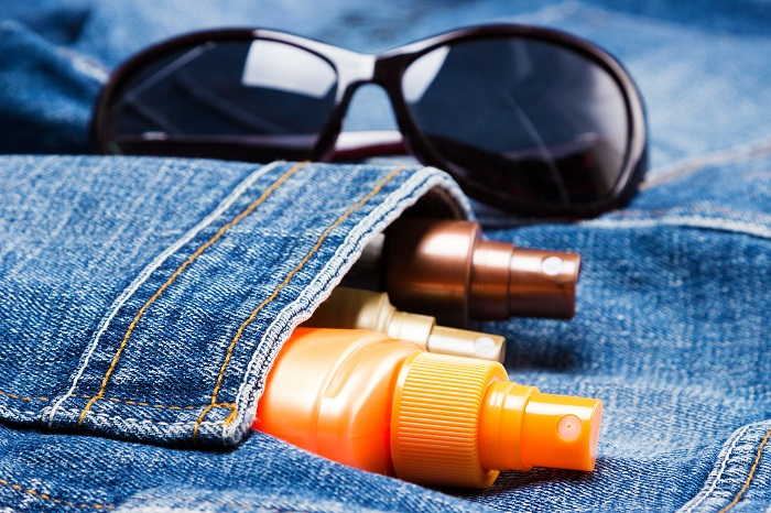 lifestyle product photography of sunscreen