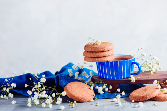 Bright and airy food still life using creative cookie photography