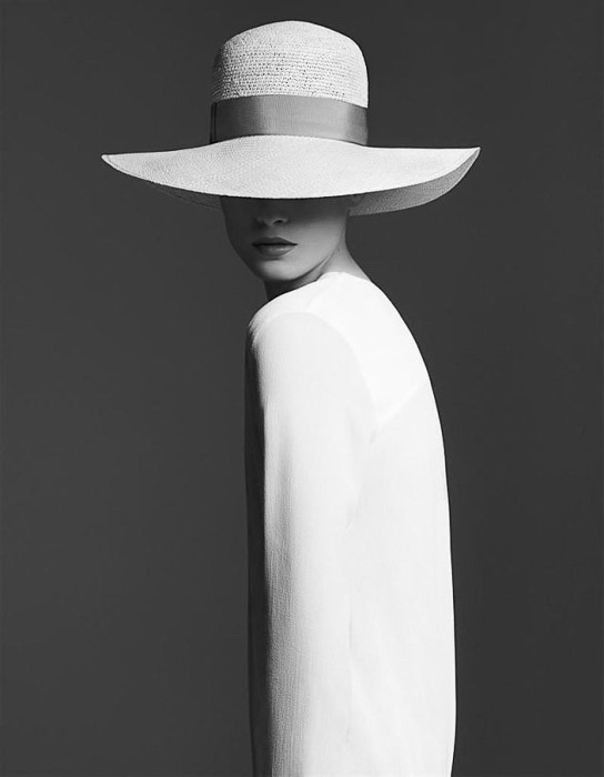 A striking black and white portrait of a female model - fashion photography inspiration