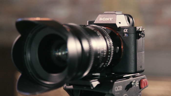 A sony A7 mirrorless camera