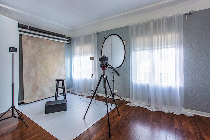 A freelance photographers home studio setup