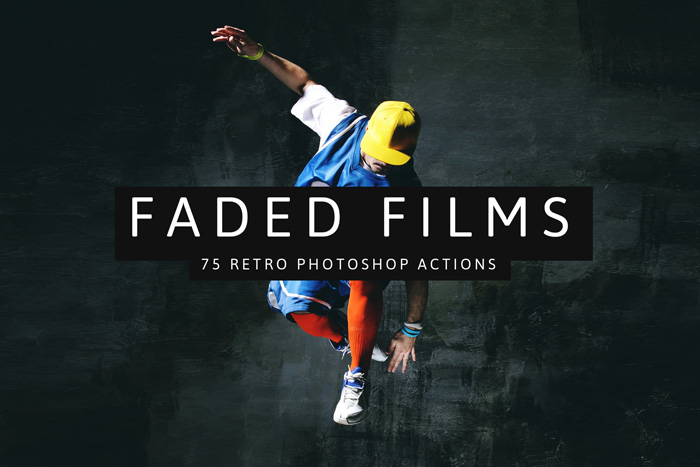 screenshot of faded films action homepage - Best Photoshop Filters