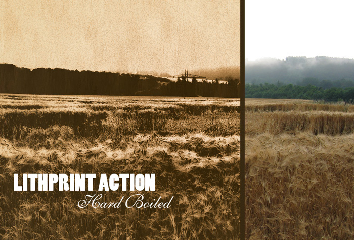 screenshot of Lithprint action homepage - Best Photoshop Filters