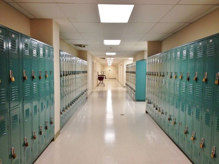 An empty high school corridor - school pictures