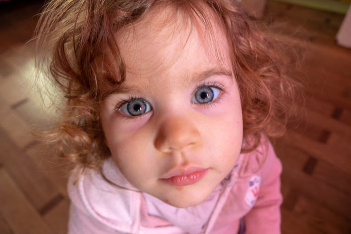 Sweet close up of a young girl