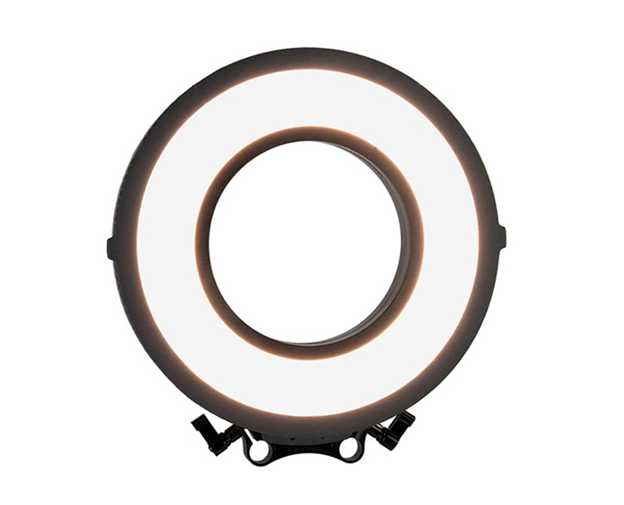 LED lights in a circle form the basic ring light.