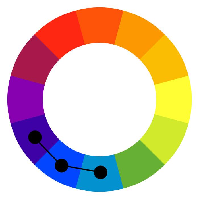 An analogous color scheme