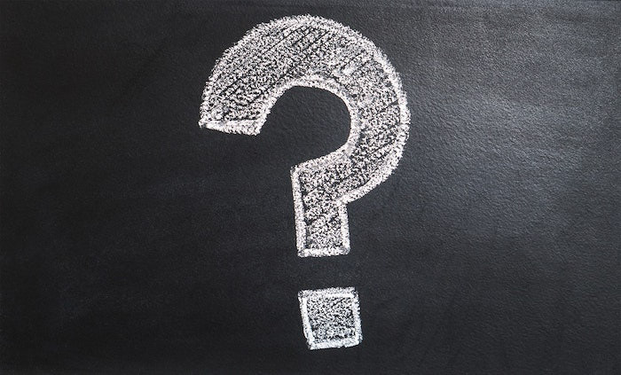 a question mark drawn in chalk on a blackboard - photography storyboard ideas