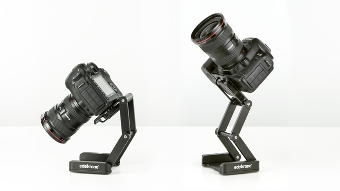 two Canon DSLR cameras attached to a Edelkrone SliderONE V2