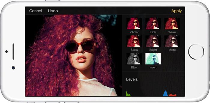 A screenshot from the Pixelmator photo retouching app interface