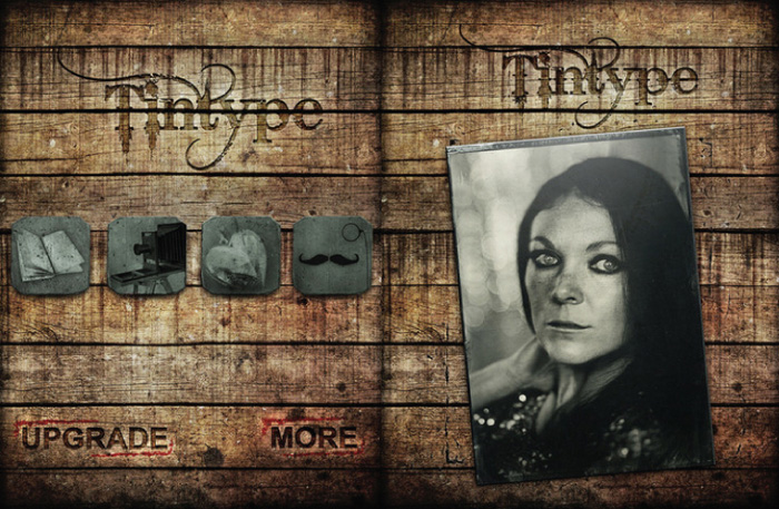 A screenshot of the Tintype app for adding textures to photos