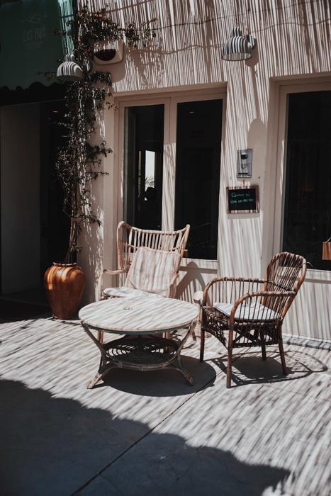 Dreamy photo of light on a veranda on a sunny day