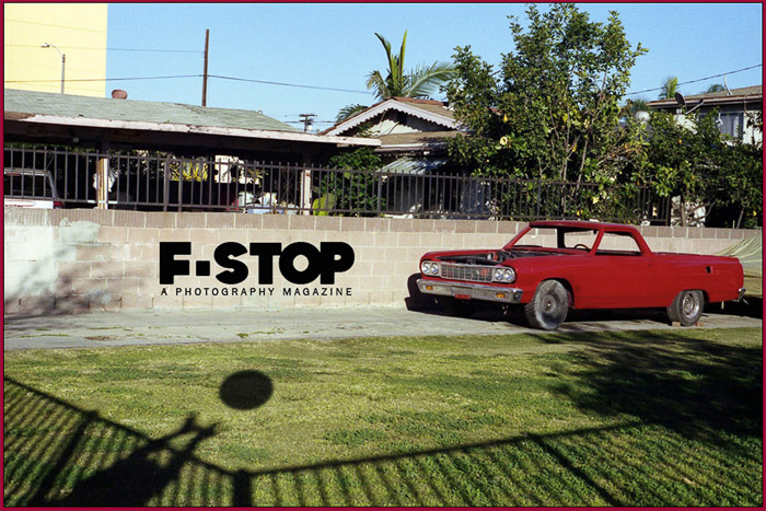 An advertisement for F-stop photography magazine